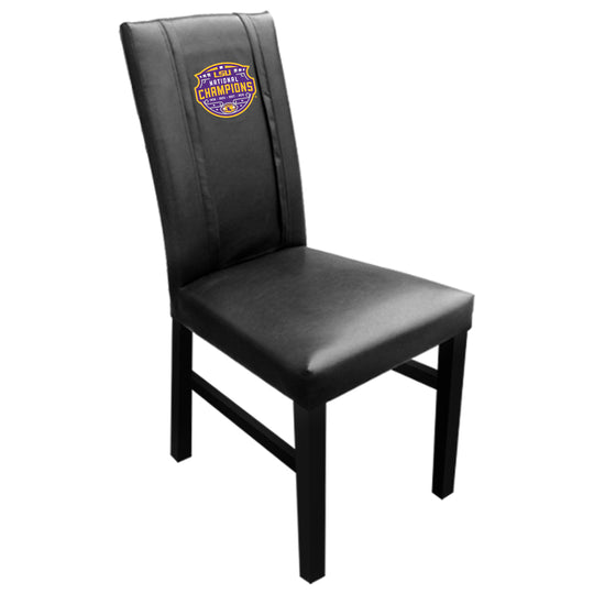 Side Chair 2000 with LSU Tigers National Champions Logo Set of 2