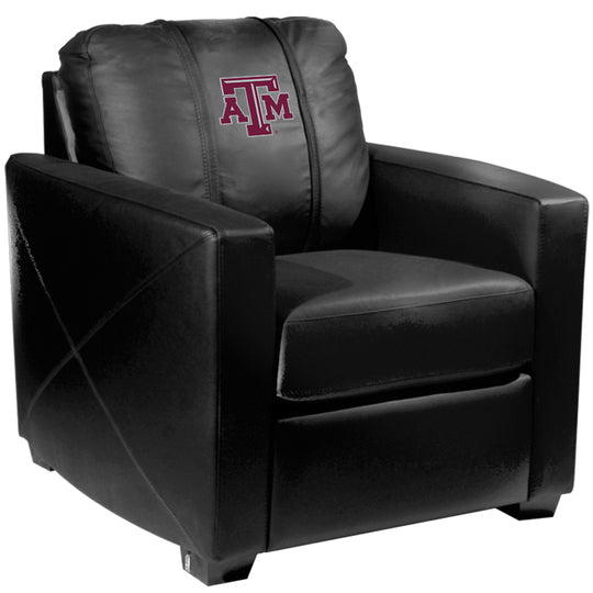 Silver Club Chair with Texas A and M Aggies Logo
