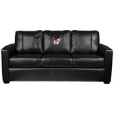 Silver Sofa with Georgia Pinstripe Bulldog Head Logo Panel