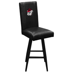 Swivel Bar Stool 2000 with Georgia Pinstripe Bulldog Head Logo Panel