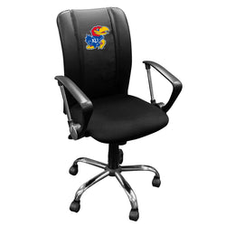 Curve Task Chair with Kansas Jayhawks Logo Panel