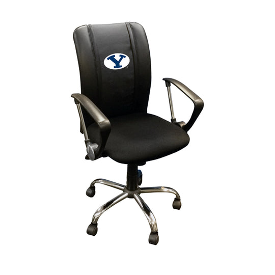 Curve Task Chair with BYU Cougars Logo