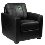 Silver Club Chair with Delaware Blue Hens Logo