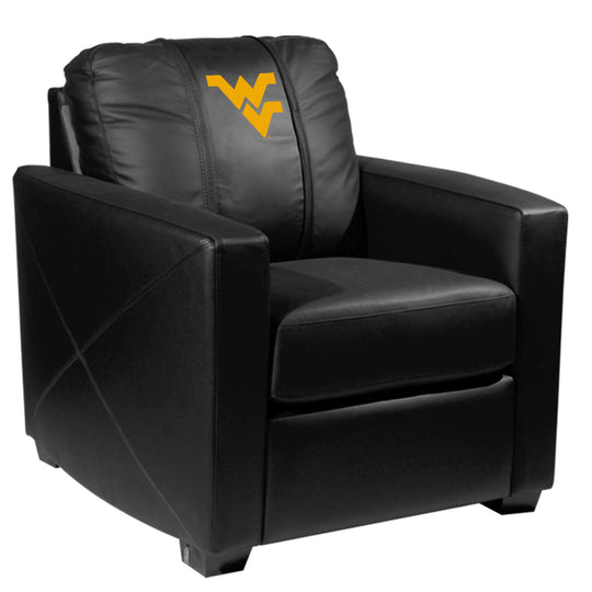 Silver Club Chair with West Virginia Mountaineers Logo