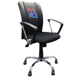 Curve Task Chair with Louisiana Tech Bulldogs Logo