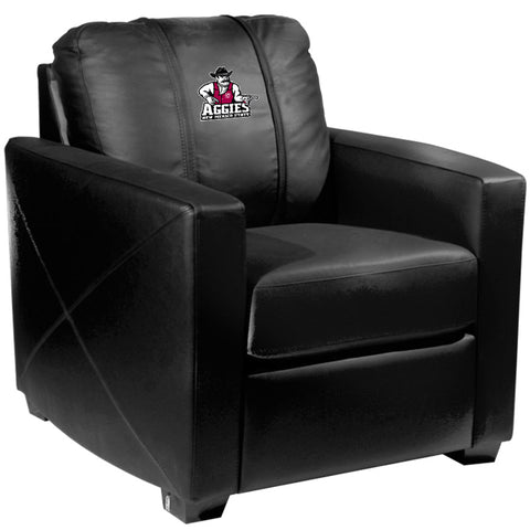 Silver Club Chair with New Mexico State Aggies Logo