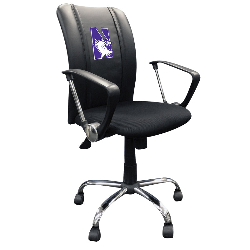Curve Task Chair with Northwestern Wildcats Logo