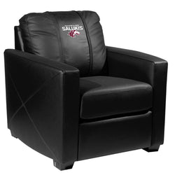 Silver Club Chair with Southern Illinois Salukis Logo