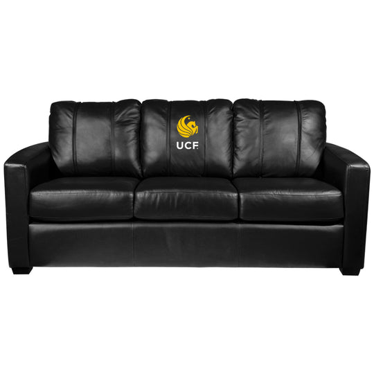 Silver Sofa with Central Florida Alumni Logo
