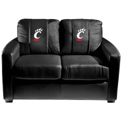 Silver Loveseat with Cincinnati Bearcats Logo