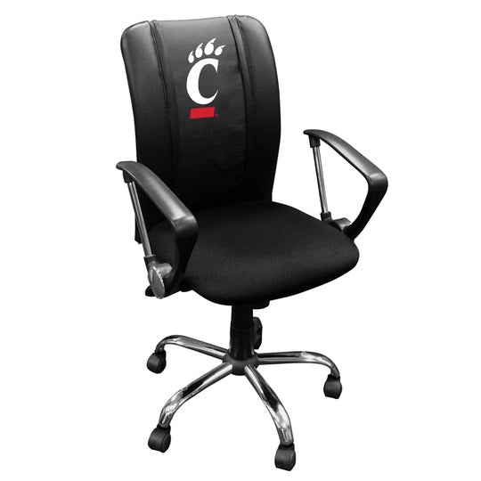 Curve Task Chair with Cincinnati Bearcats Logo