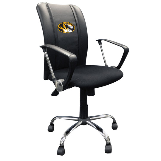 Curve Task Chair with Missouri Tigers Logo