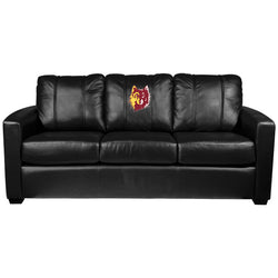 Silver Sofa with Northern State Wolf Head Logo Panel