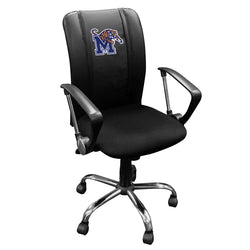 Curve Task Chair with Memphis Tigers Logo Panel