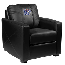 Silver Club Chair with Memphis Tigers Logo Panel