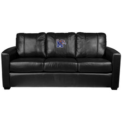Silver Sofa with Memphis Tigers Logo Panel