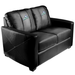 Silver Loveseat with Oklahoma State Pistol Pete Logo
