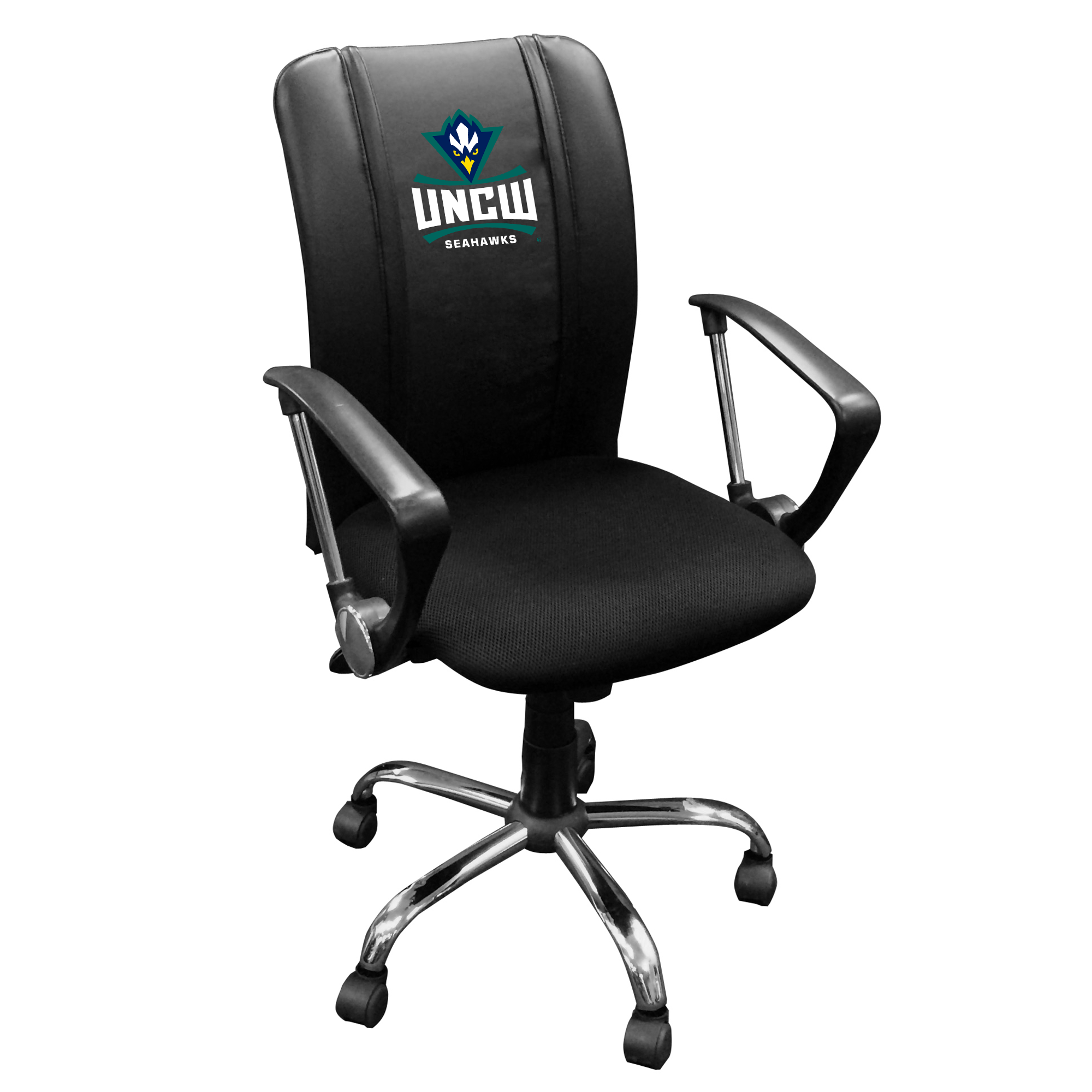 Curve Task Chair with UNC Wilmington Primary Logo