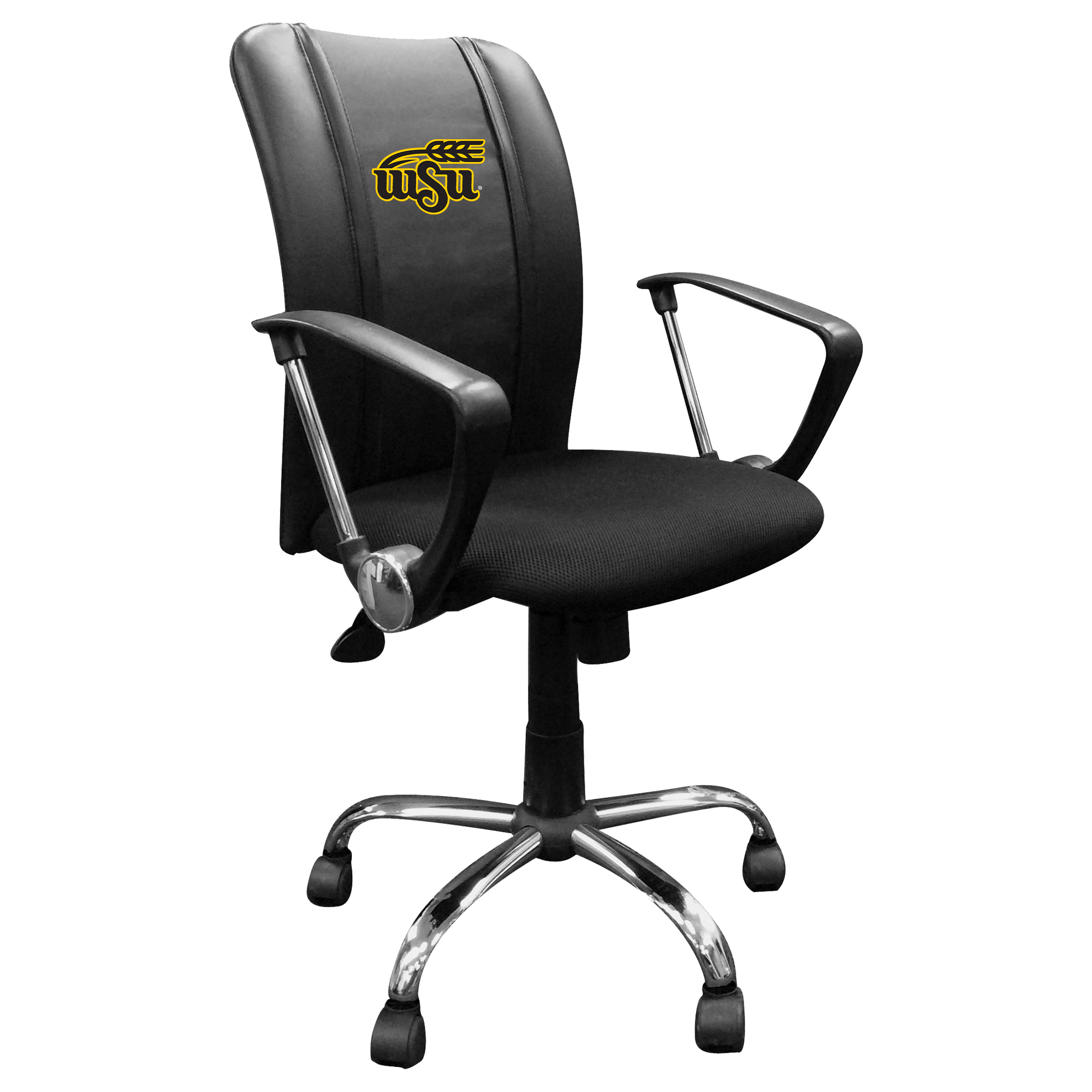Curve Task Chair with Wichita State Primary Logo