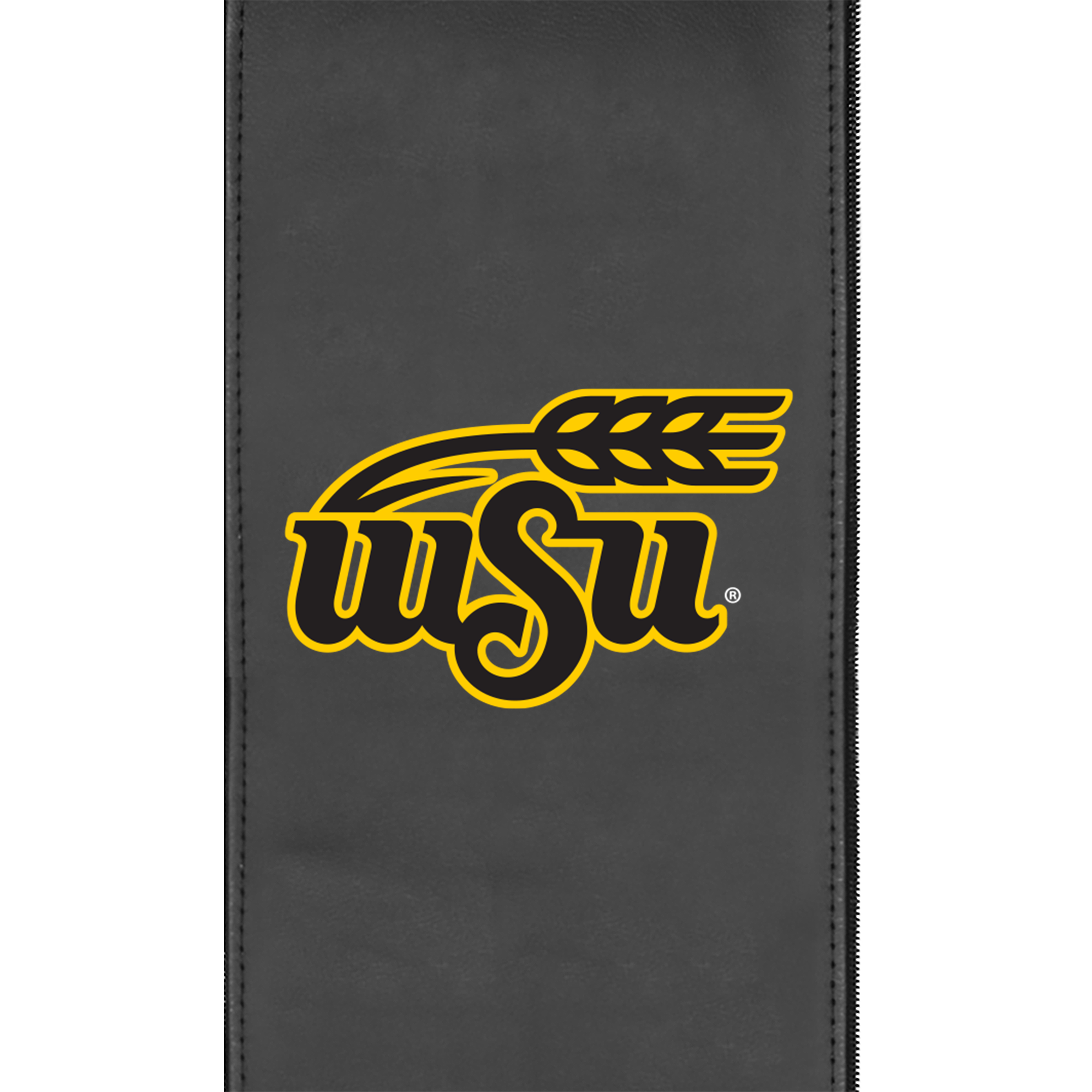 Silver Club Chair with Wichita State Primary Logo