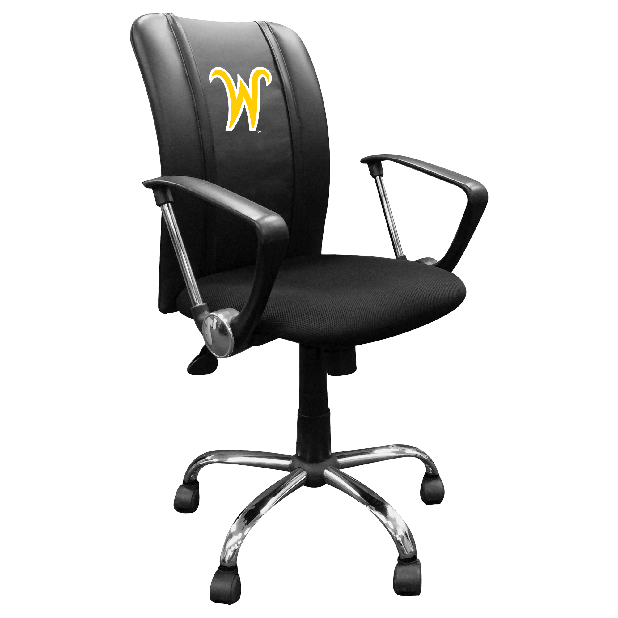 Curve Task Chair with Wichita State Secondary Logo