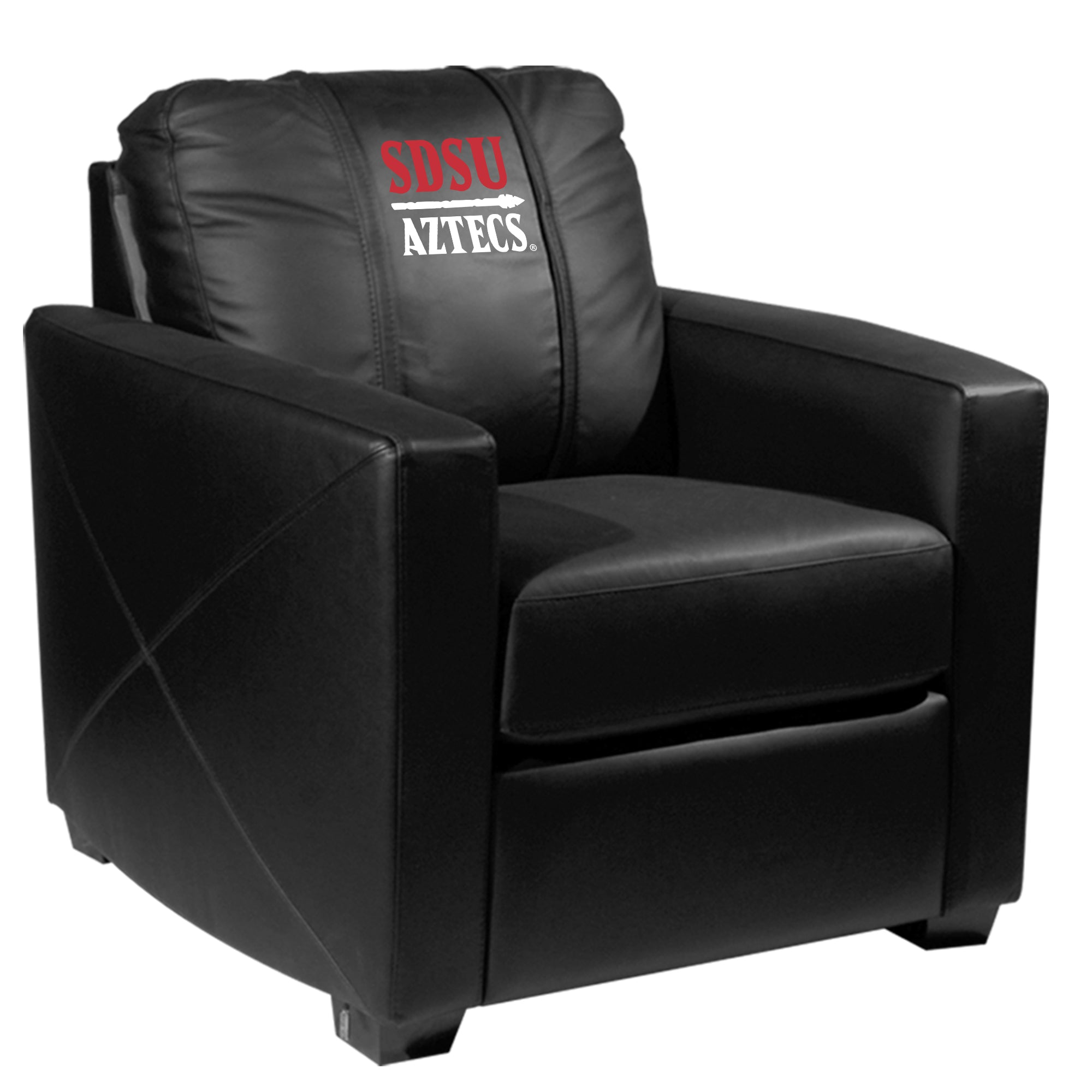 Silver Club Chair with San Diego State Secondary