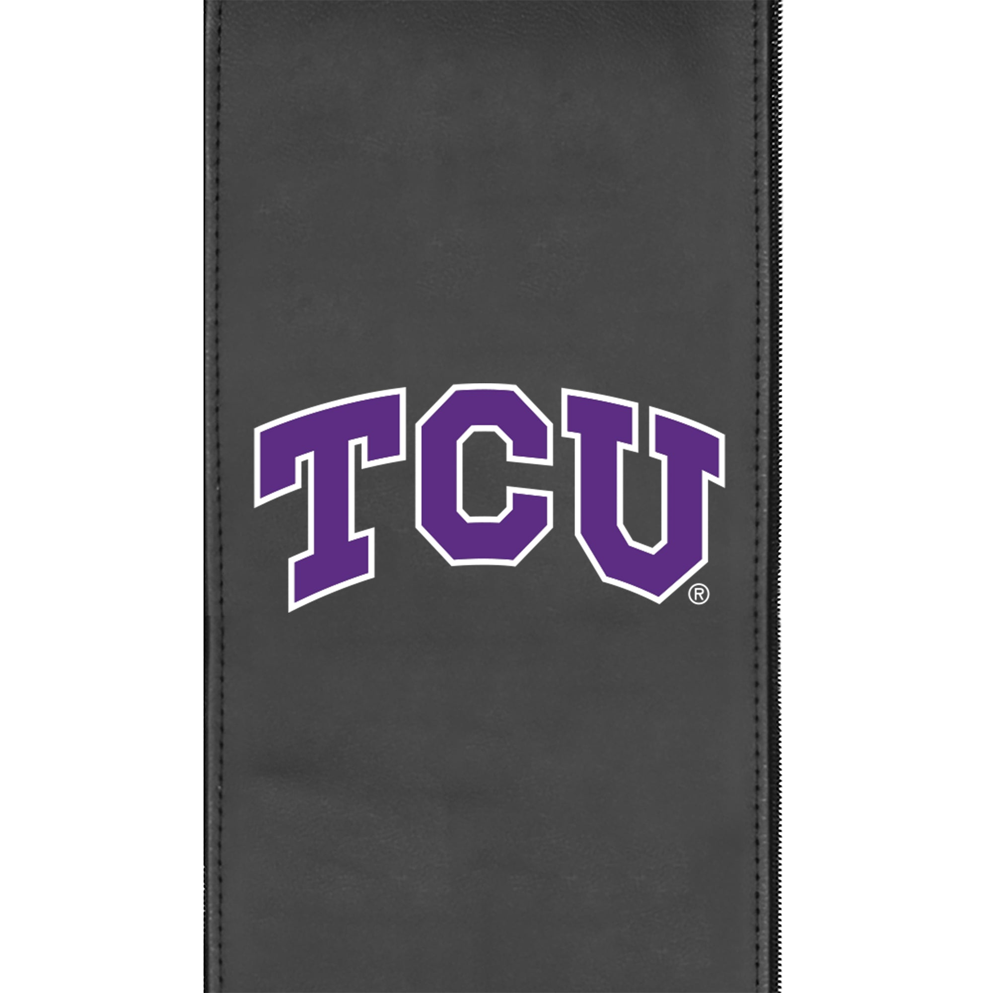 Silver Club Chair with TCU Horned Frogs Primary