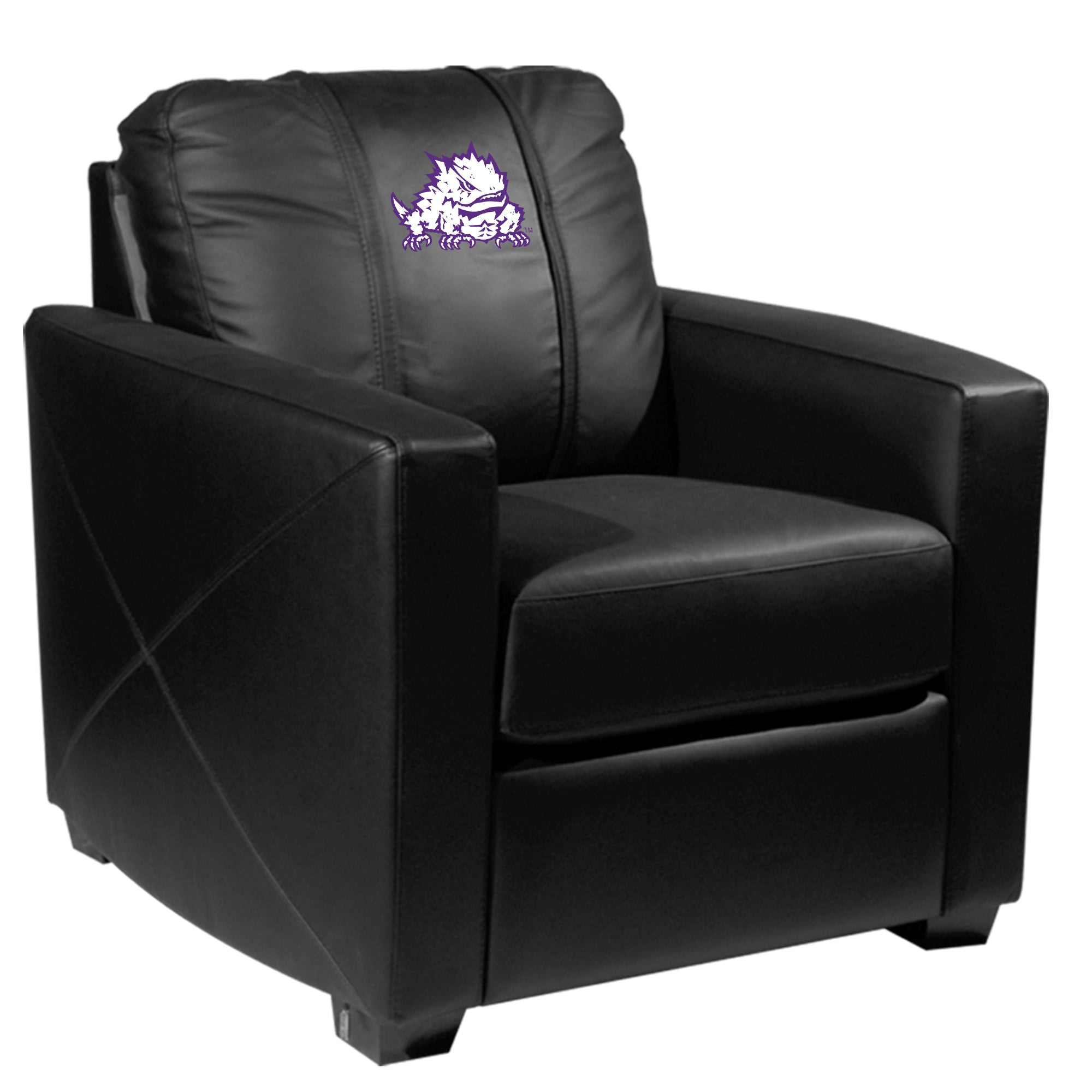 Silver Club Chair with TCU Horned Frogs Secondary