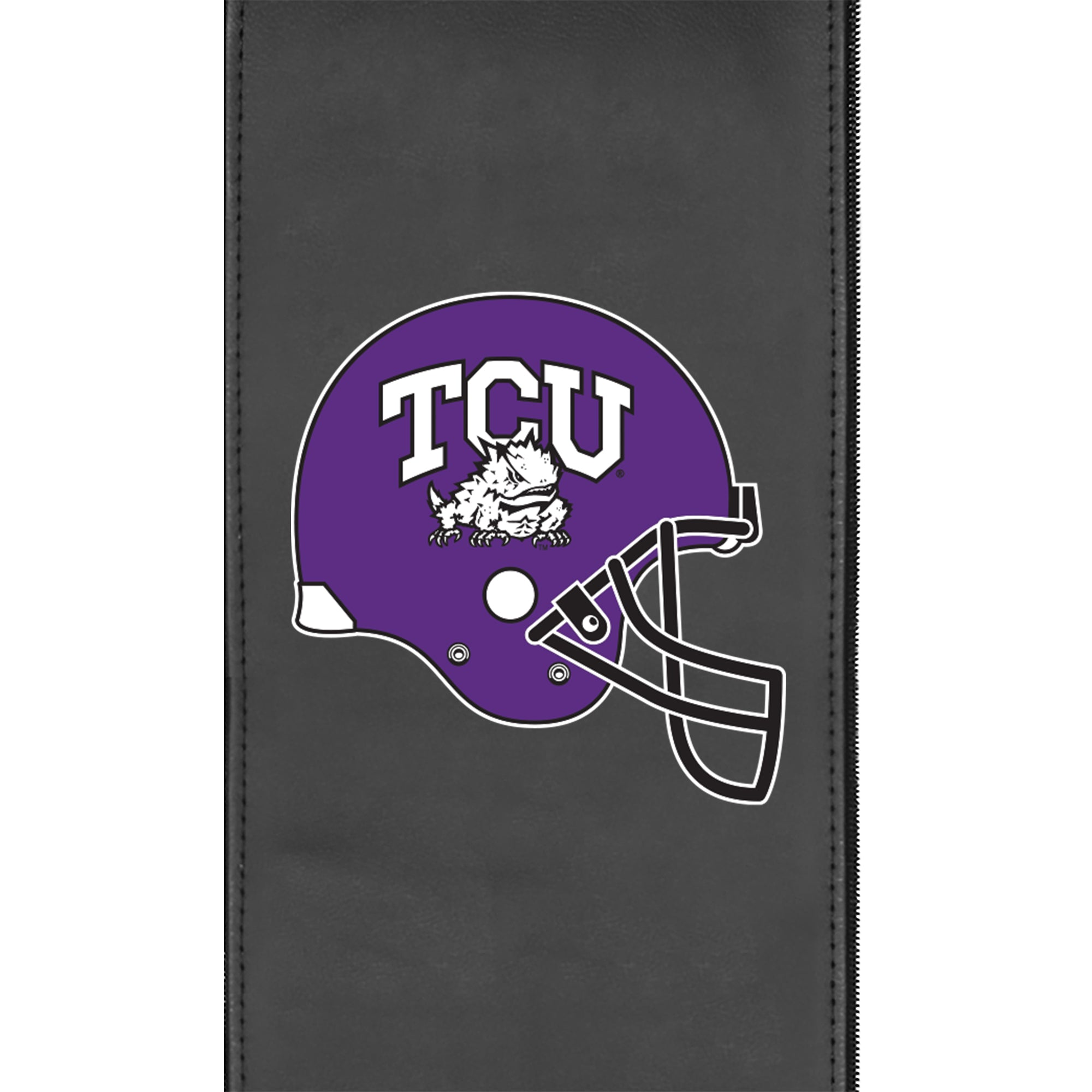 Silver Club Chair with TCU Horned Frogs Alternate