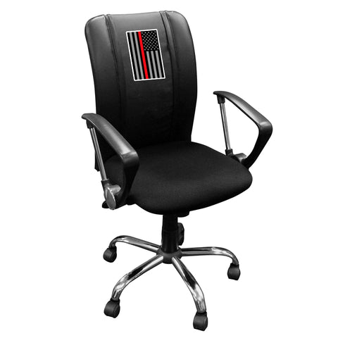 Curve Task Chair with Red Line Flag Vertical Logo Panel