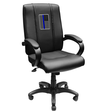 Office Chair 1000 with Blue Line Flag Vertical Logo Panel