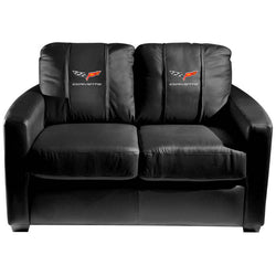 Silver Loveseat with Corvette C6 Logo