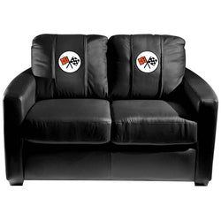 Silver Loveseat with Corvette C2 Logo