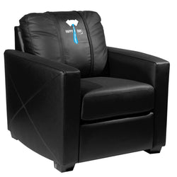 Silver Club Chair with Father's Day Tie Logo Panel
