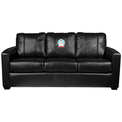Silver Sofa with Snowman Globe Logo Panel