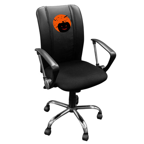 Curve Task Chair with The Great Zipchair Pumpkin Logo