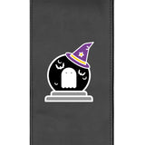 Silver Club Chair with Batty Ghostly Goblin Halloween Logo