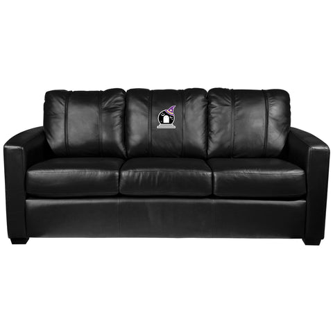 Silver Sofa with Batty Ghostly Goblin Halloween Logo