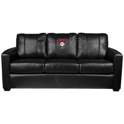 Silver Sofa with Arizona Diamondbacks Logo
