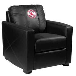 Silver Club Chair with Boston Red Sox Logo