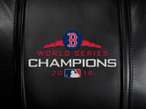 Silver Club Chair with Boston Red Sox 2018 Champions Logo Panel