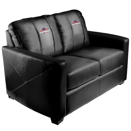 Silver Loveseat with Boston Red Sox 2018 Champions Logo Panel