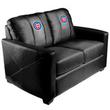 Silver Loveseat with Chicago Cubs Logo