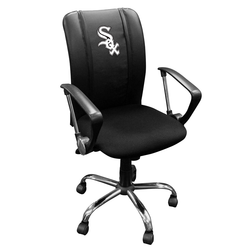 Curve Task Chair with Chicago White Sox Primary Logo Panel