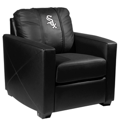 Silver Club Chair with Chicago White Sox Primary Logo Panel