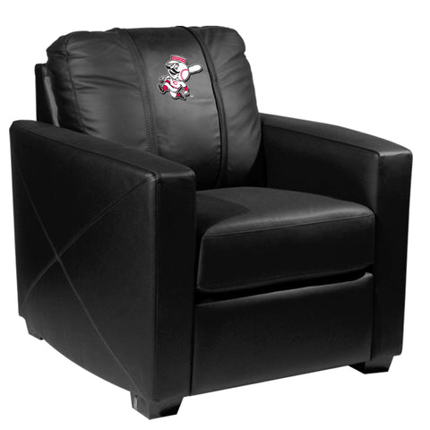 Silver Club Chair with Cincinnati Reds Secondary