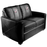 Silver Loveseat with Cincinnati Reds Secondary