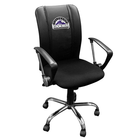 Curve Task Chair with Colorado Rockies Logo