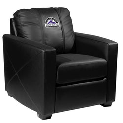 Silver Club Chair with Colorado Rockies Logo