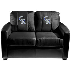 Silver Loveseat with Colorado Rockies Secondary
